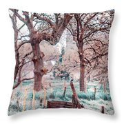 Quiet Place. Nature In Alien Skin Throw Pillow