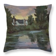 Quiet Reflections Duwamish River Throw Pillow