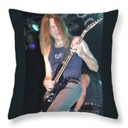 Quiet Riot - Carlos Cavazo Throw Pillow