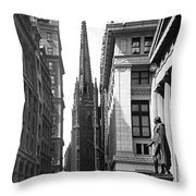 Quiet Sunday On Wall Street Throw Pillow