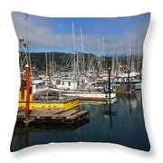 Quiet Time At The Harbor Throw Pillow