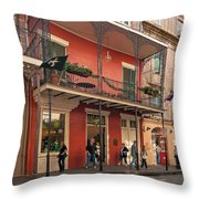 Quiet Time In The Quarter Throw Pillow