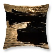 Quiet Waters At Sunset Throw Pillow