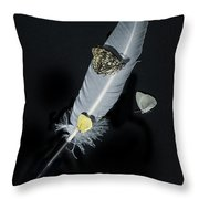 Quill With Butterflies Throw Pillow