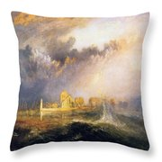 Quillebeuf - At The Mouth Of Seine Throw Pillow