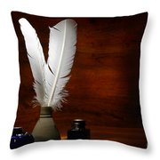 Quills And Inkwells Throw Pillow