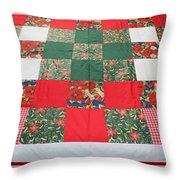 Quilt Christmas Blocks Throw Pillow
