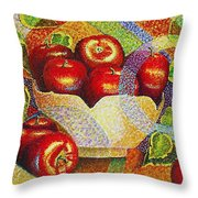quilted Apples Throw Pillow