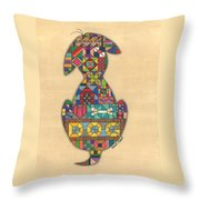 Quilted Dog Throw Pillow