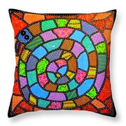 Quilted Spiral Snake Throw Pillow