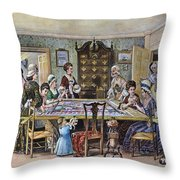 Quilting Bee Throw Pillow
