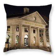 Quincy Market Boston Throw Pillow