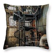 Quincy Mine Hoist Throw Pillow
