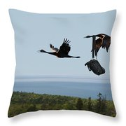 Quit Your Squawkin' Throw Pillow