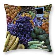 Quito Ecuador Market 1 Throw Pillow