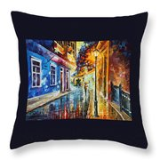 Quito Ecuador - Palette Knife Oil Painting On Canvas By Leonid Afremov Throw Pillow