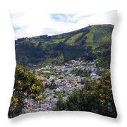 Quito From El Panecillo Throw Pillow