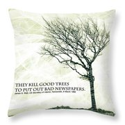 Quote Of The Day Throw Pillow