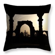 Qutab Minar Complex - New Delhi - India Throw Pillow