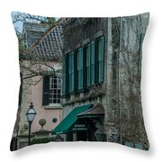 Quuen Street In Charleston Sc Throw Pillow