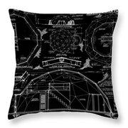 R. Buckminster Fuller Geodesic Dome Home Throw Pillow