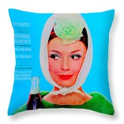 R C Cola Throw Pillow