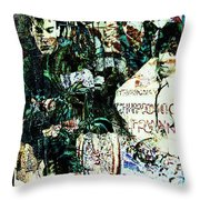 R E M / Exit Chronic Town Throw Pillow