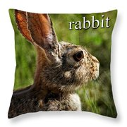 R Is For Rabbit Throw Pillow