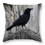 R Is For Raven Throw Pillow