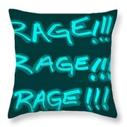 R R R Turquoise Throw Pillow