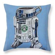 R2decaf Throw Pillow
