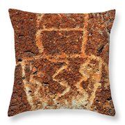 Shaman Petroglyph C Throw Pillow