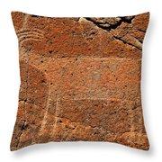 Big Horn Sheep Rock Art B Throw Pillow