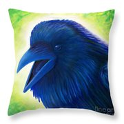 Raaawk Throw Pillow