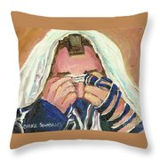 Rabbi's Prayer For The Sabbath Throw Pillow