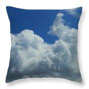 Rabbit Cloud Throw Pillow