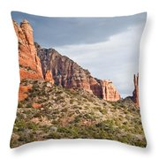 Rabbit Ears Spire At Sunset Throw Pillow