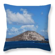 Rabbit  Head Hawaii Throw Pillow
