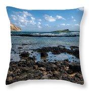 Rabbit Island Tide Pools Throw Pillow