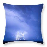 Rabbit Mountain Lightning Strikes Boulder County Co Throw Pillow