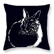 Rabbit Paper Cut Throw Pillow