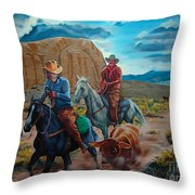 Rabbitbrush Round-up Throw Pillow