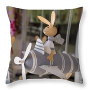 Rabbits Can Fly Throw Pillow