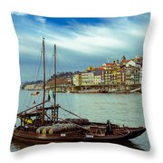 Rabelo Boat Throw Pillow