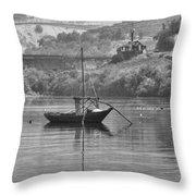 Rabelo Boat Throw Pillow