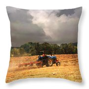 Race Against The Storm Throw Pillow