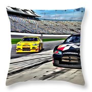 Race Car Track View Throw Pillow