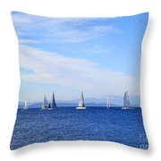 Race In Point Roberts Throw Pillow