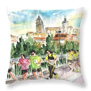 Race In Salamanca Throw Pillow