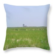 Race Point Life Saving Station Throw Pillow